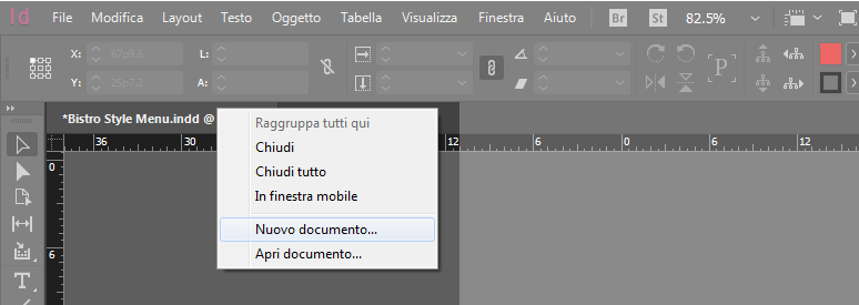 Creare un nuovo documento con InDesign