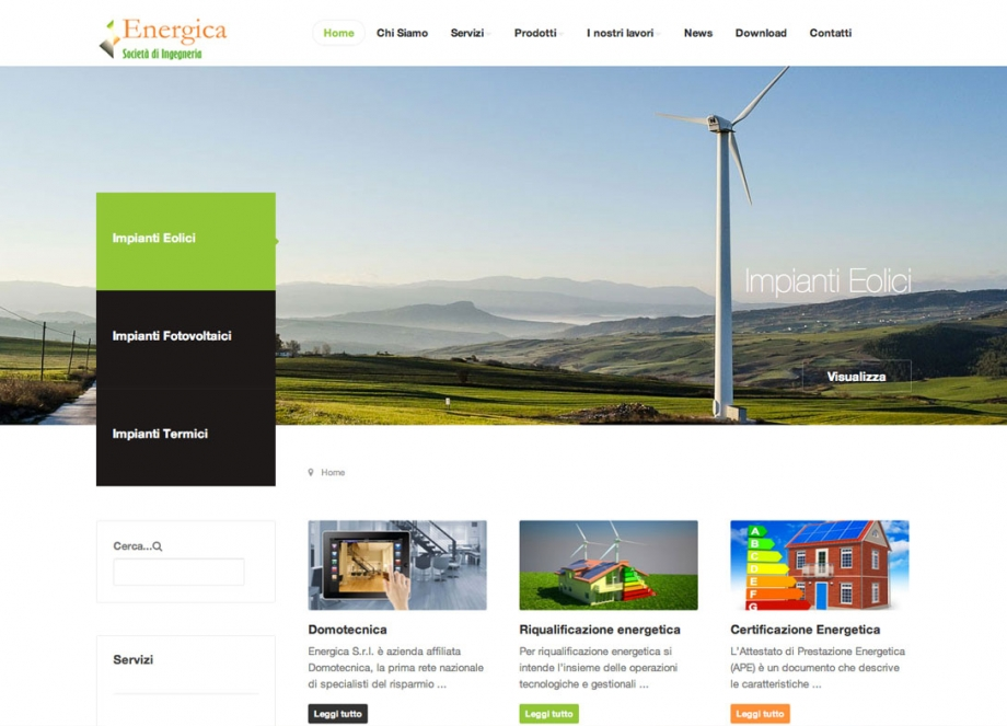 Sito web Energicaweb